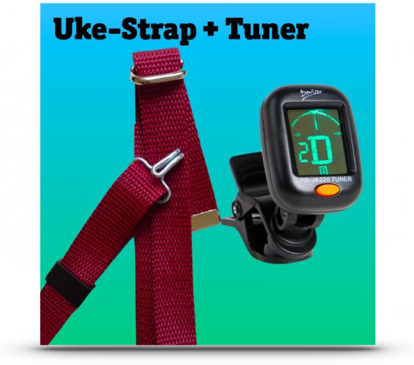 Cliptuner + Uke-Strap
